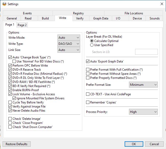 RITEK-BW1-001 Panasonic UJ260 Settings