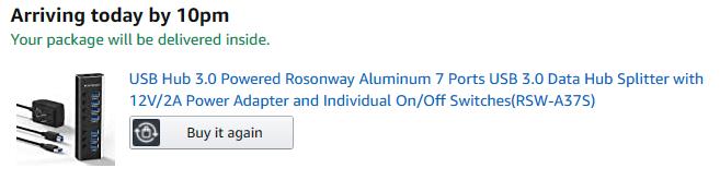 Rosonway USB 3.0 7-Port hub 1