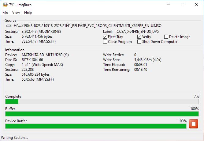 Smartbuy DVD+R DL RITEK-S04-66 Panasonic UJ-260 Burning 4