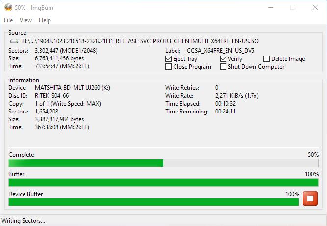 Smartbuy DVD+R DL RITEK-S04-66 Panasonic UJ-260 Burning 6
