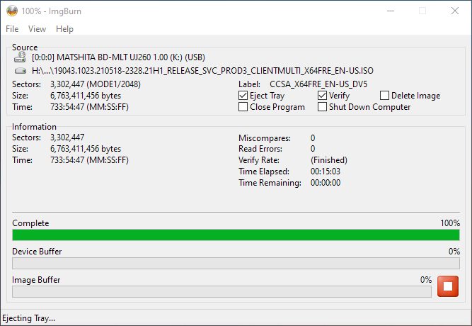 Smartbuy DVD+R DL RITEK-S04-66 Panasonic UJ-260 Verifying 4