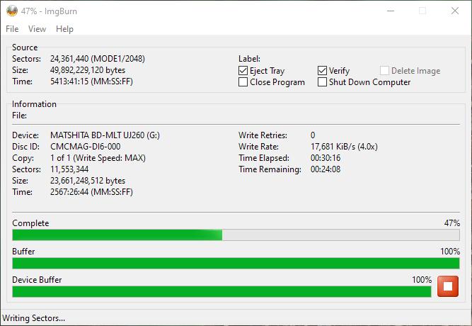 SpeedX BD-R DL Panasonic UJ-260 4