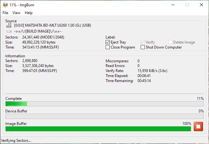 SpeedX BD-R DL Panasonic UJ-260 7