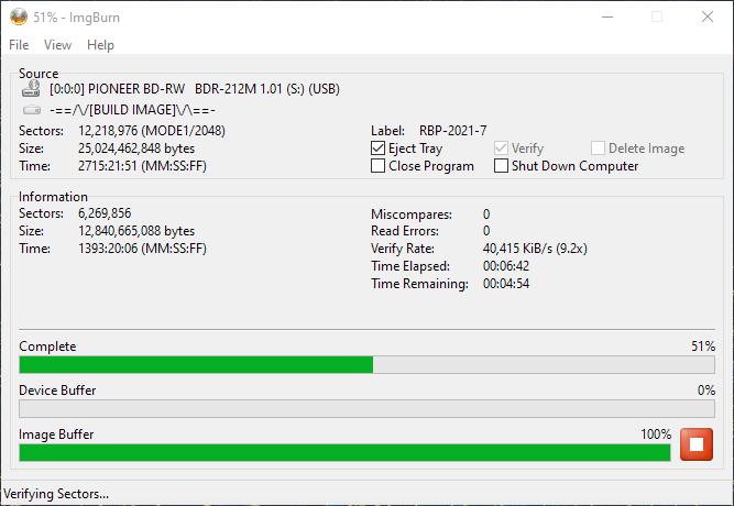 ValueDisc BD-R 25GB CMCMAG-BA5-000 Pioneer BDR-2212 4x 10