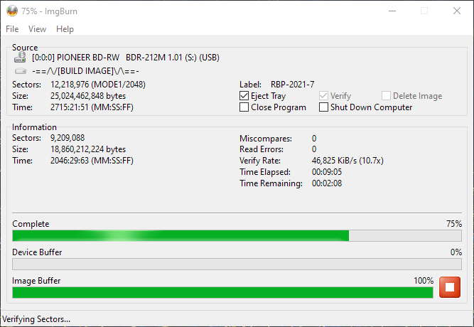 ValueDisc BD-R 25GB CMCMAG-BA5-000 Pioneer BDR-2212 4x 11