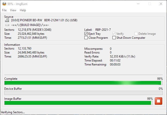 ValueDisc BD-R 25GB CMCMAG-BA5-000 Pioneer BDR-2212 4x 12