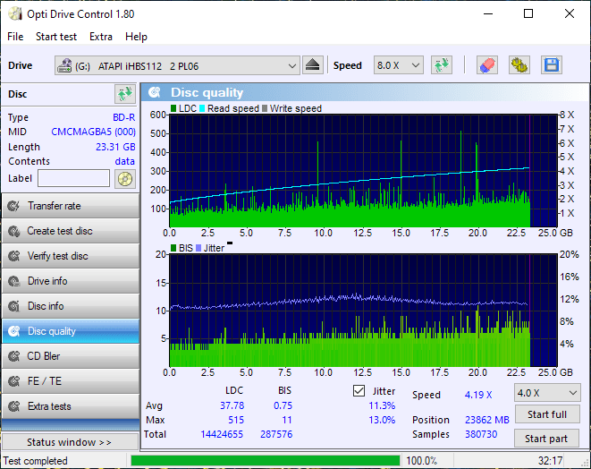 ValueDisc BD-R 25GB CMCMAG-BA5-000 Pioneer BDR-2212 4x 13