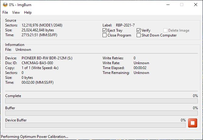 ValueDisc BD-R 25GB CMCMAG-BA5-000 Pioneer BDR-2212 4x 2