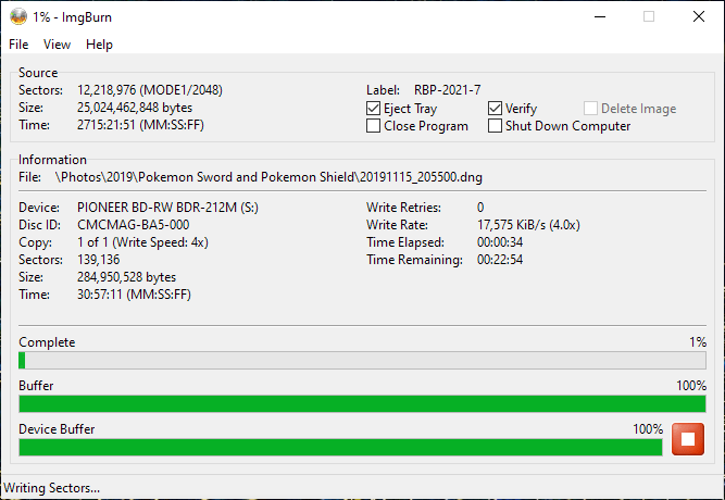 ValueDisc BD-R 25GB CMCMAG-BA5-000 Pioneer BDR-2212 4x 3