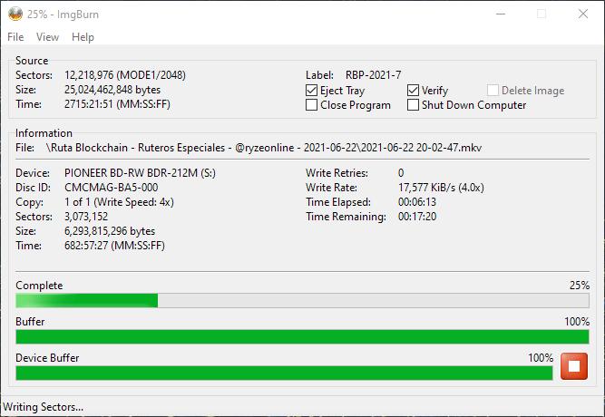 ValueDisc BD-R 25GB CMCMAG-BA5-000 Pioneer BDR-2212 4x 4