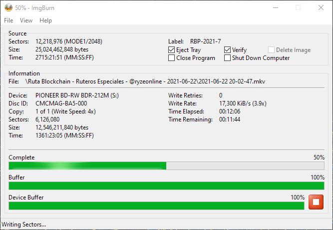 ValueDisc BD-R 25GB CMCMAG-BA5-000 Pioneer BDR-2212 4x 5