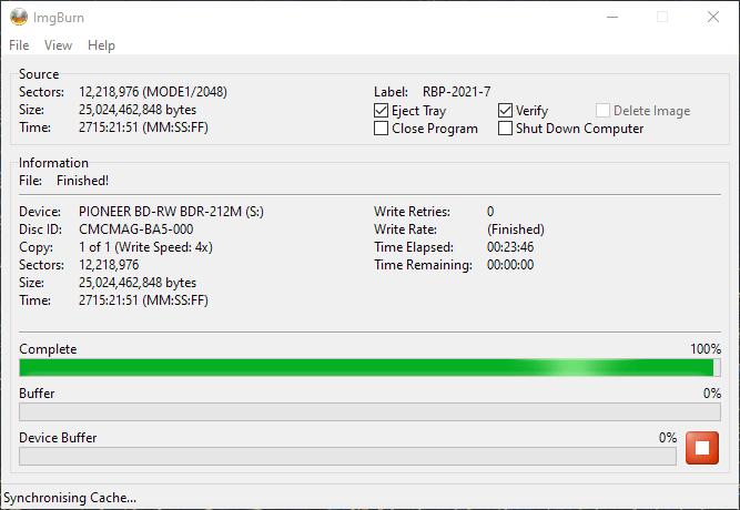 ValueDisc BD-R 25GB CMCMAG-BA5-000 Pioneer BDR-2212 4x 7