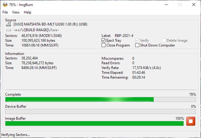 Verbatim VERBAT-IMk-000 Panasonic UJ-260 16