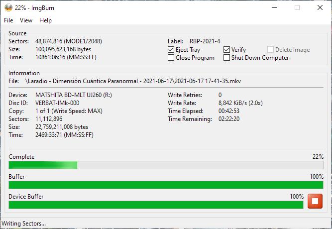 Verbatim VERBAT-IMk-000 Panasonic UJ-260 3