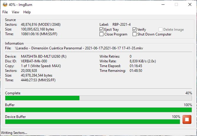 Verbatim VERBAT-IMk-000 Panasonic UJ-260 5