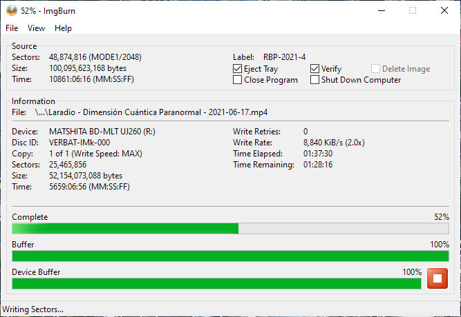Verbatim VERBAT-IMk-000 Panasonic UJ-260 6