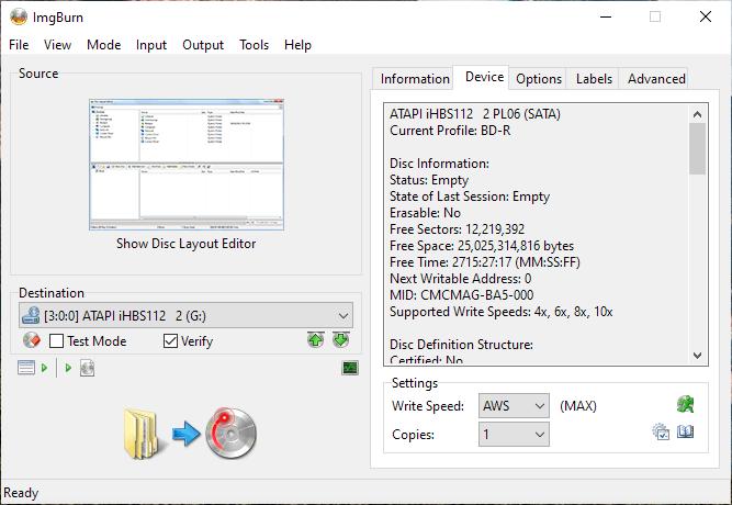 CMCMAG-BA5-000 on LiteOn iHBS112 1