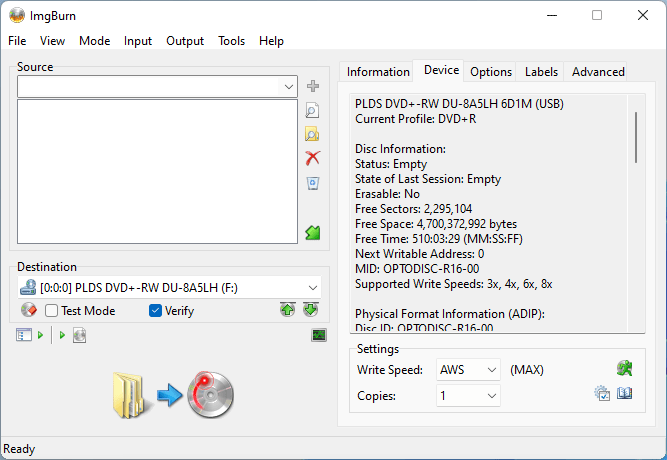 PlexDisc DVD+R on LiteOn DU-8A5LH 8x 2