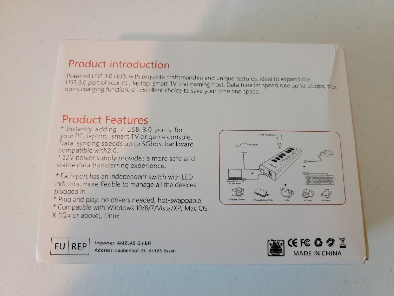 Rosonway 7-Port USB 3.0 Hub 2