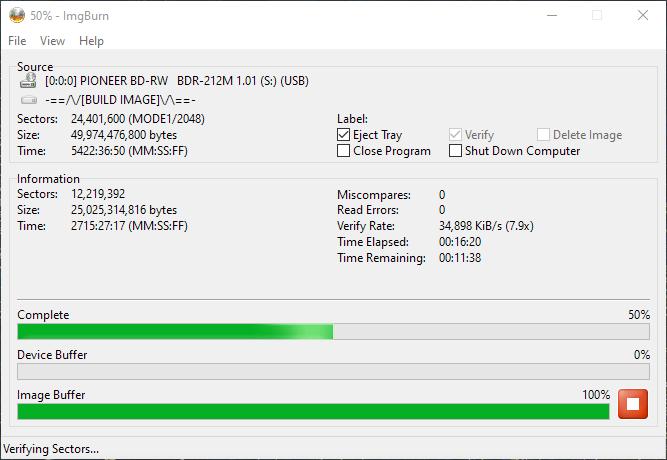SpeedX BD-R DL Pioneer BDR-2212 10