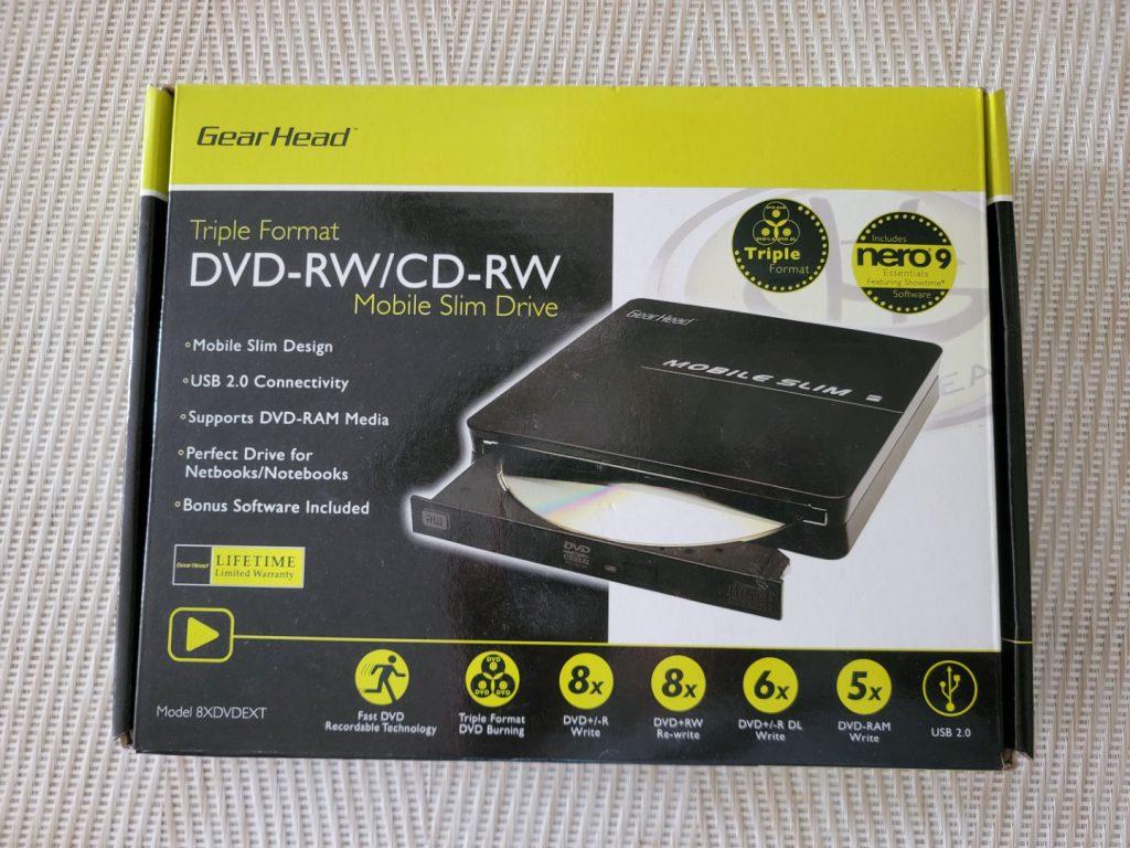 Gear Head Triple Format Mobile Slim External DVD Drive 1
