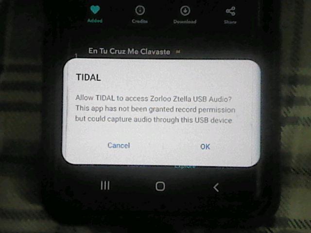 Tidal Android Ztella MQA 1