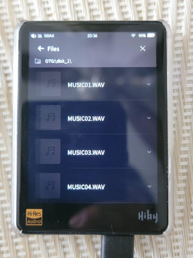 Hiby R3 with LG GP96YB70 Audio CD 4