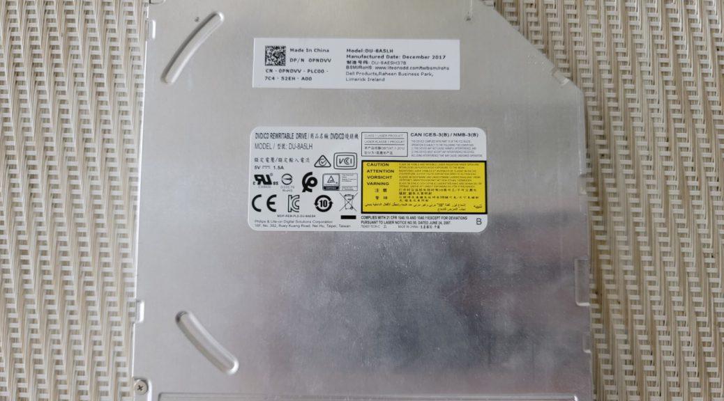 The LiteOn (PLDS) DU-8A5LH Optical Drive.