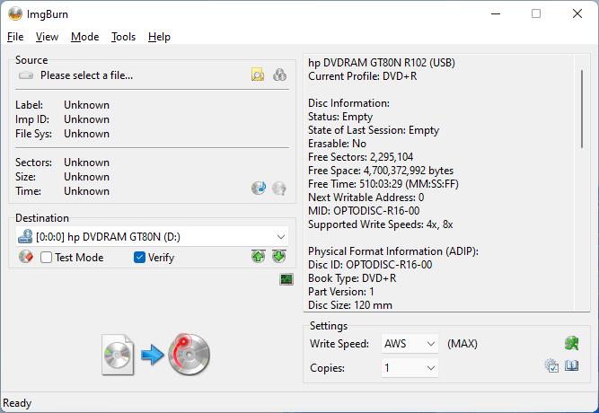 PlexDisc DVD+R LG GT80N (HP Version) 1