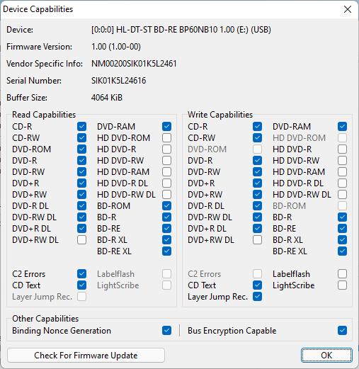 LG BP60NB10 capabilities