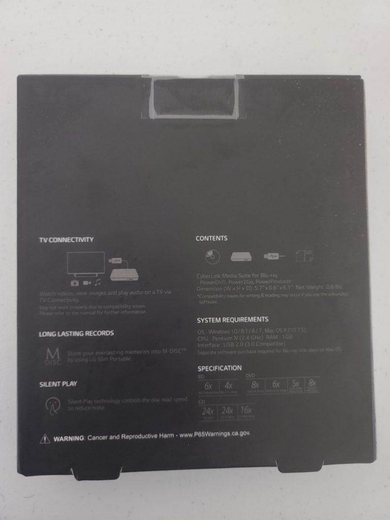 LG Ultra Slim Portable Blu-Ray Writer 2