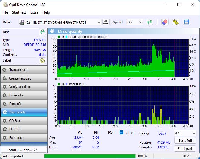 PlexDisc DVD+R LG BP60NB10 2.4x 15
