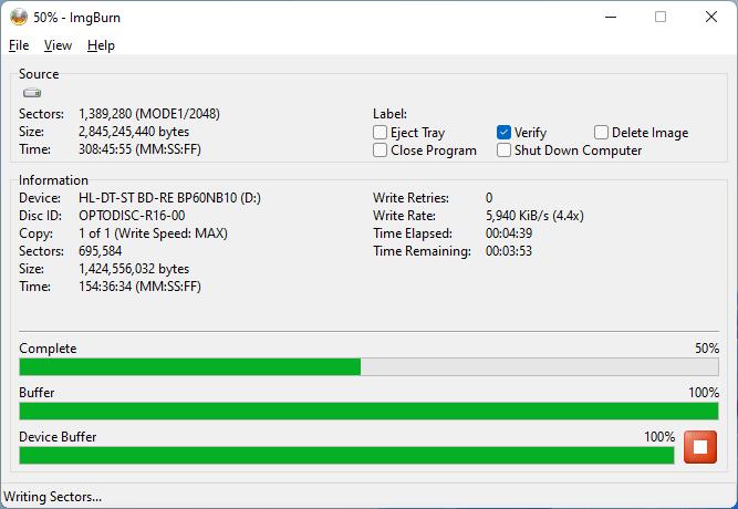 PlexDisc DVD+R LG BP60NB10 4