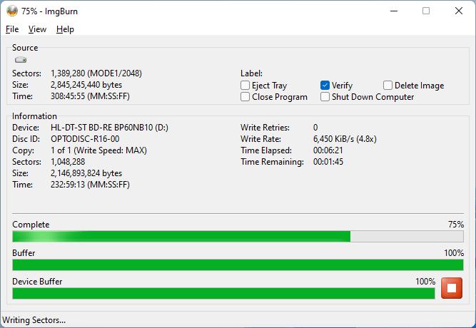 PlexDisc DVD+R LG BP60NB10 5