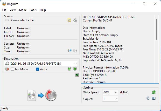 PlexDisc DVD+R LG GP96YB70 1
