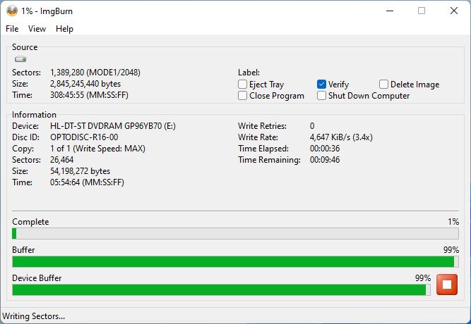 PlexDisc DVD+R LG GP96YB70 2