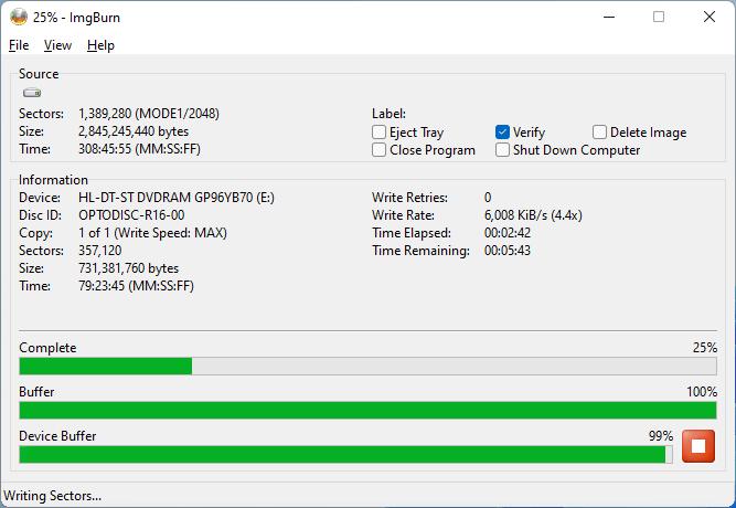 PlexDisc DVD+R LG GP96YB70 3