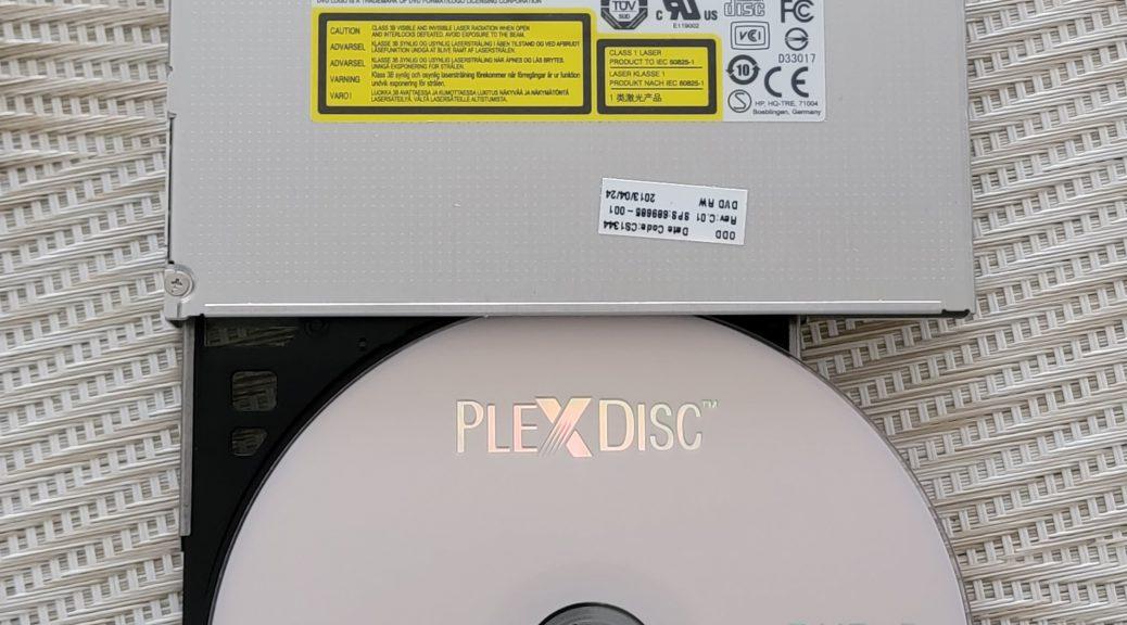 PlexDisc DVD+R burned in HP LG GT80N 2