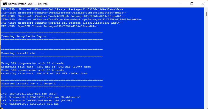 Windows 10 21H1 19043.1237 20