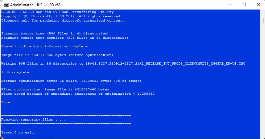 Windows 10 21H1 19043.1237 22
