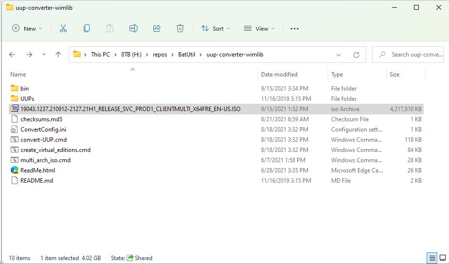 Windows 10 21H1 19043.1237 ISO file