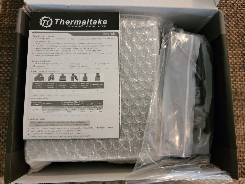 Thermaltake Toughpower GX2 600W PSU Box - Inside Content